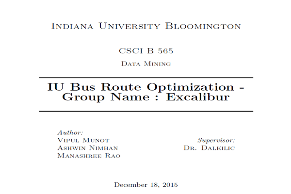 IU Bus System Optimization